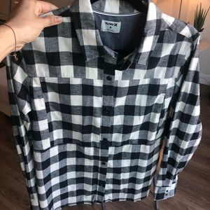 Hurley BW Flannel Button Down